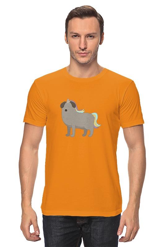 Футболка классическая Printio Пёс - единорог майка классическая printio пёс единорог