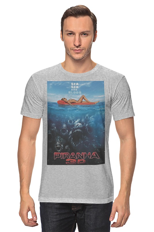 Футболка классическая Printio Piranha / пираньи