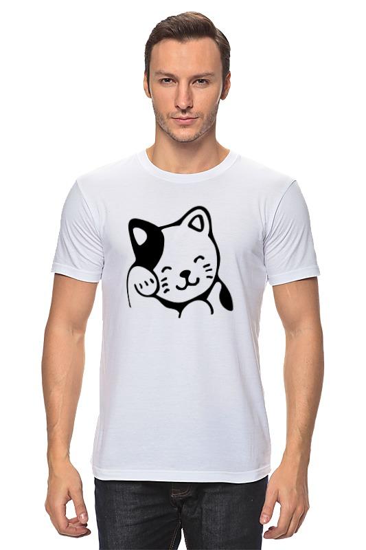 Футболка классическая Printio Милый котик футболка для беременных printio милый котик