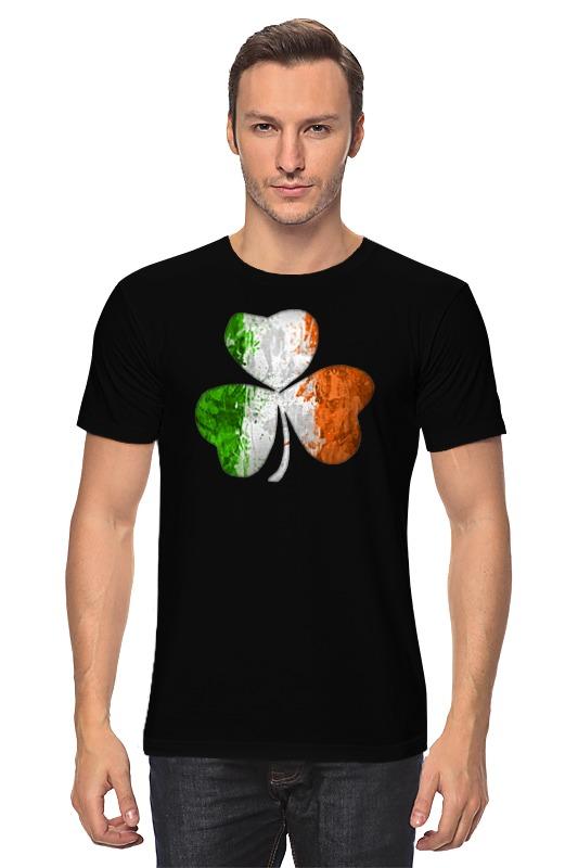 Футболка классическая Printio Ирландский трилистник россия ваза трилистник
