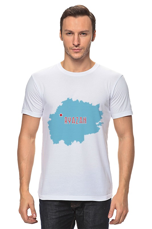 Футболка классическая Printio Рязанская область. рязань