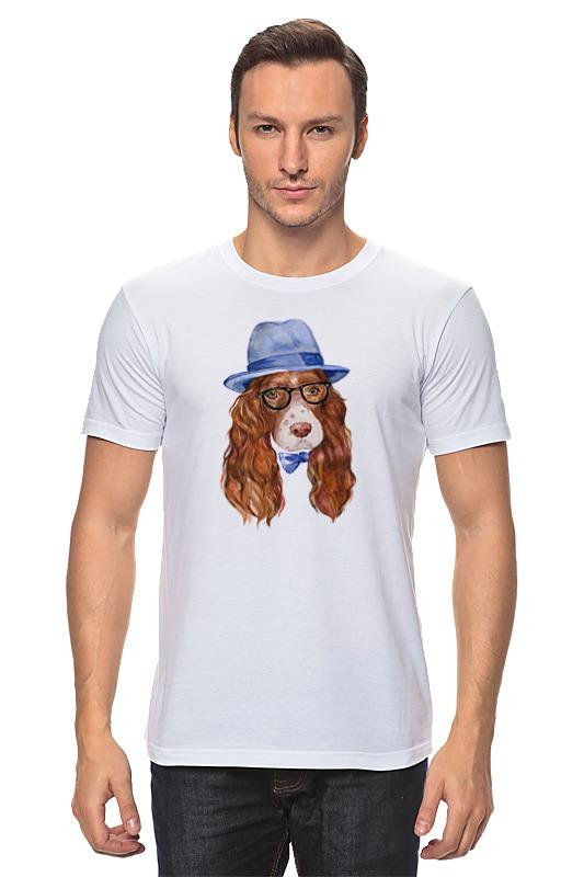 Футболка классическая Printio Собака хипстер футболка классическая printio акварельная новогодняя забавная собака