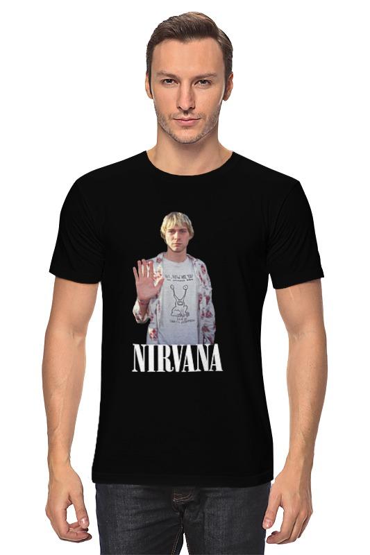 Футболка классическая Printio Nirvana kurt cobain hello t-shirt футболка wearcraft premium slim fit printio nirvana kurt cobain hello t shirt