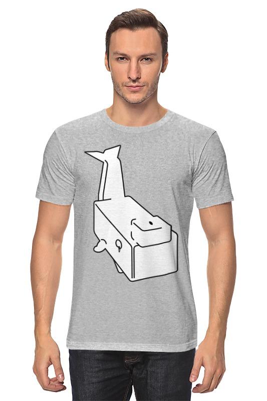 Футболка классическая Printio Моби дик (белый кит) футболка рингер printio дик трэйси