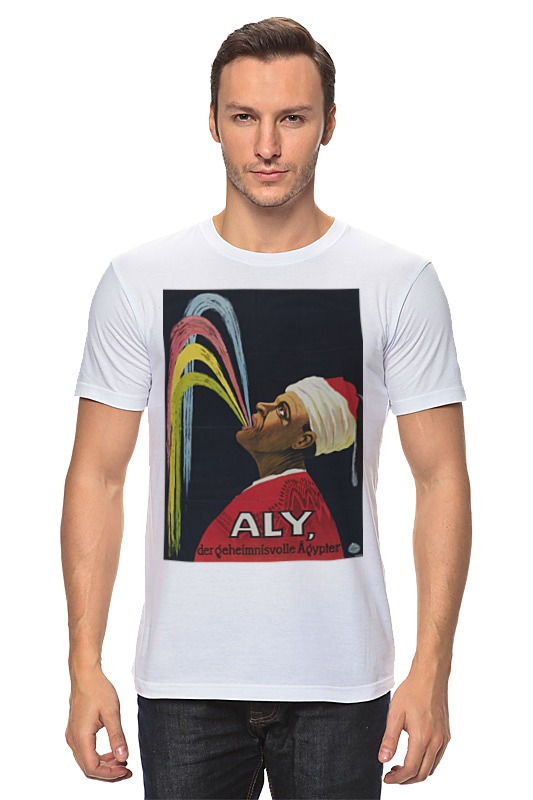 Футболка классическая Printio Афиша представления хаджи али, 1913 г. футболка трешер на али