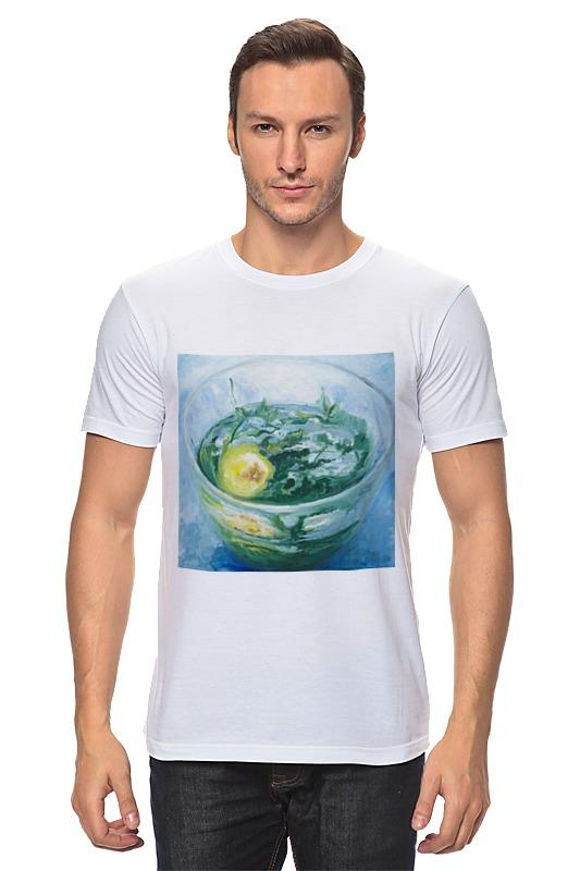 Футболка классическая Printio Чашка чая с лимоном и мятой чашка canvas