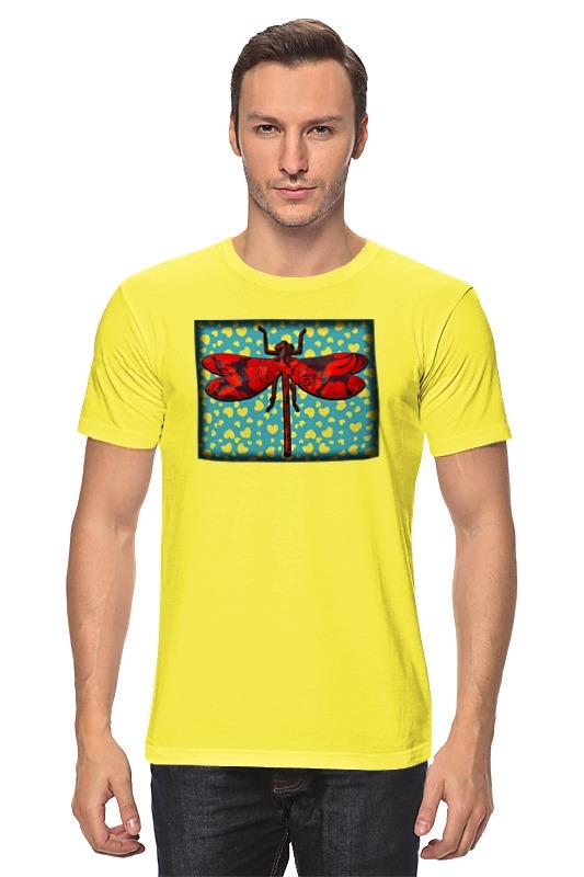Футболка классическая Printio Влюбленная стрекоза футболка на день рождения