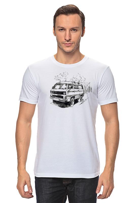 Футболка классическая Printio volkswagen transporter volkswagen transporter в москве б у