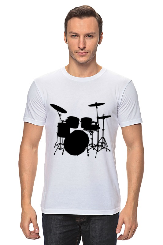 Футболка классическая Printio Drums футболка converse футболка awt drums sketchbook sig vneck tee
