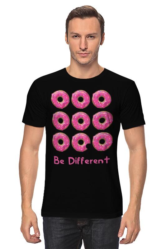 Футболка классическая Printio Пончики симпсоны спрингфилд игра как пончики