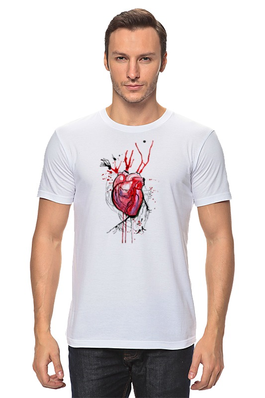 Футболка классическая Printio Обнаженное сердце футболка классическая printio акварель сердце из голубики
