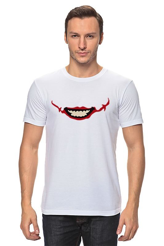 Футболка классическая Printio Улыбка джокера футболка классическая printio футболка улыбка