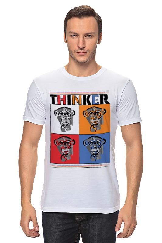 Футболка классическая Printio Мыслитель футболка klingel цвет синий белый рисунок