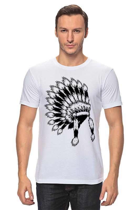 Футболка классическая Printio Индеец футболка классическая printio черно белый питер