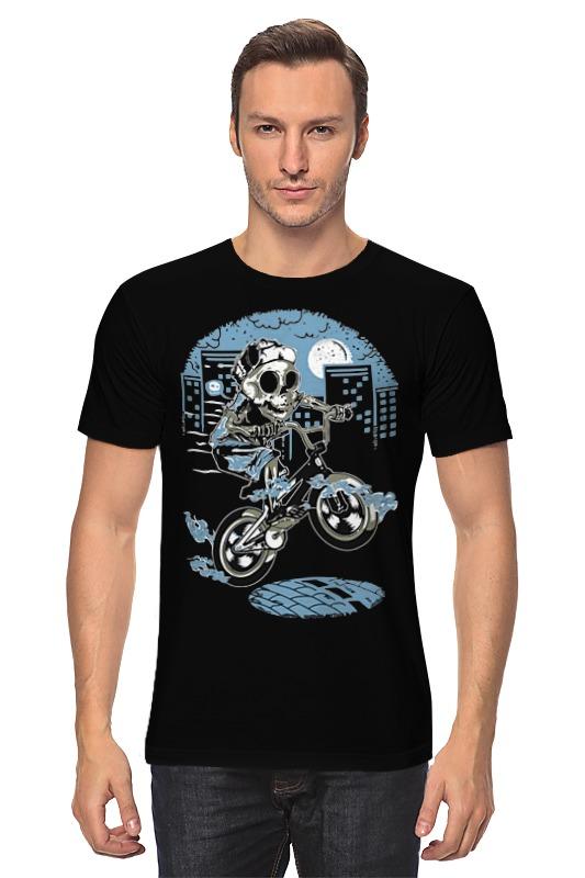 Футболка классическая Printio Скелет на велике