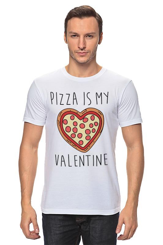 Футболка классическая Printio Пицца - мой валентин