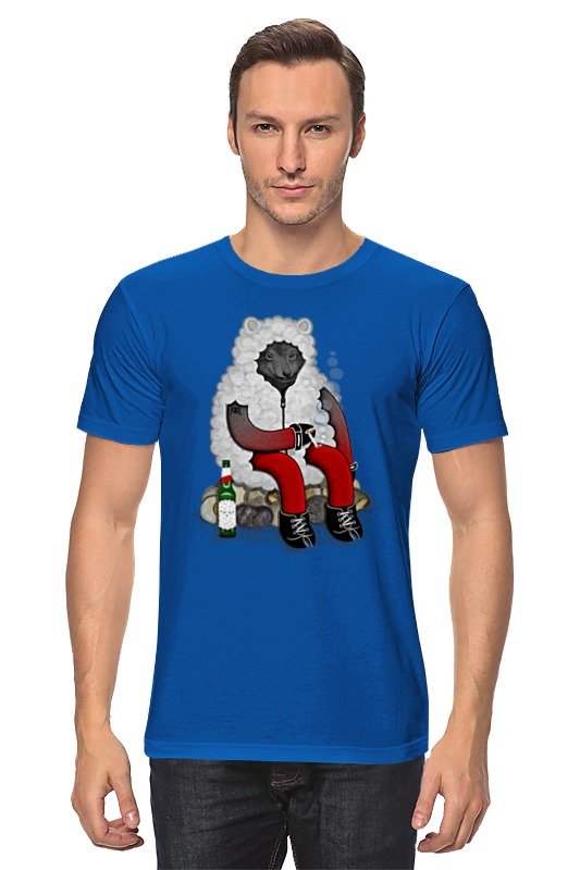 Футболка классическая Printio Волк в овечьей шкуре футболка wearcraft premium printio волк в овечьей шкуре