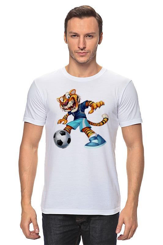 Футболка классическая Printio Тигр футболист