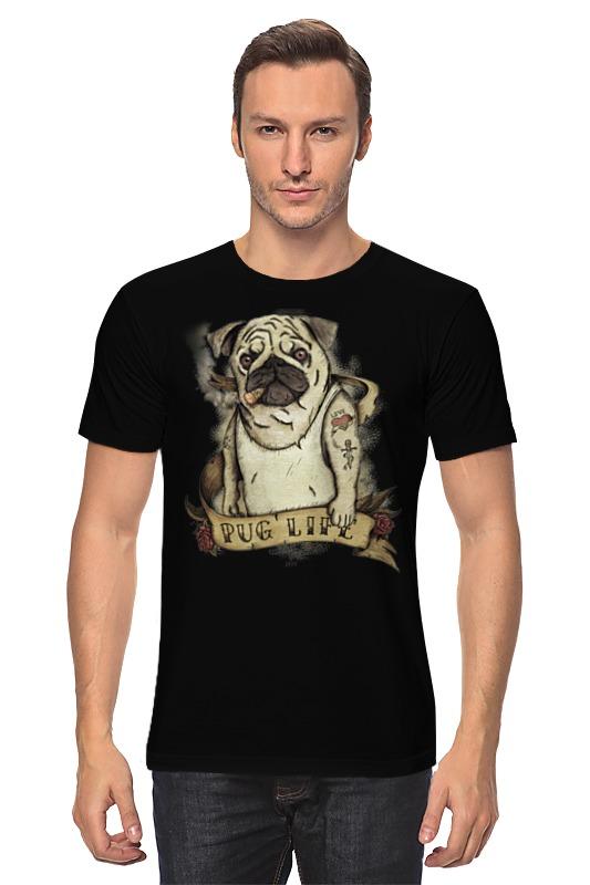 Футболка классическая Printio Жизнь мопса купить щенка мопса в одессе