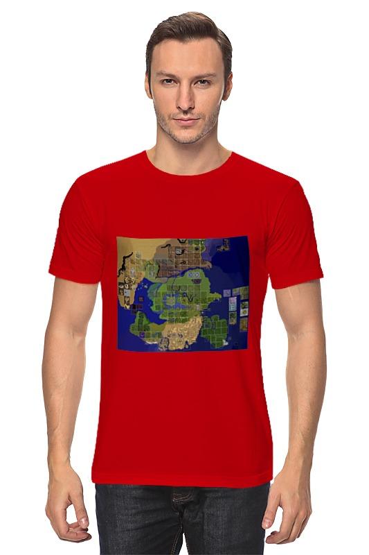 Футболка классическая Printio Карта мира ragnarok online пазл магнитный 27 4 x 30 4 210 элементов printio карта мира ragnarok online