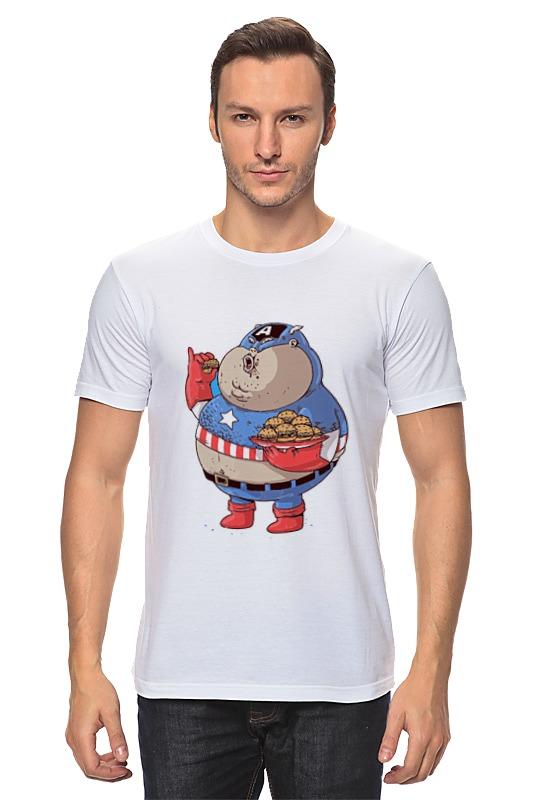 Футболка классическая Printio Fat captain america футболка классическая printio капитан америка captain america