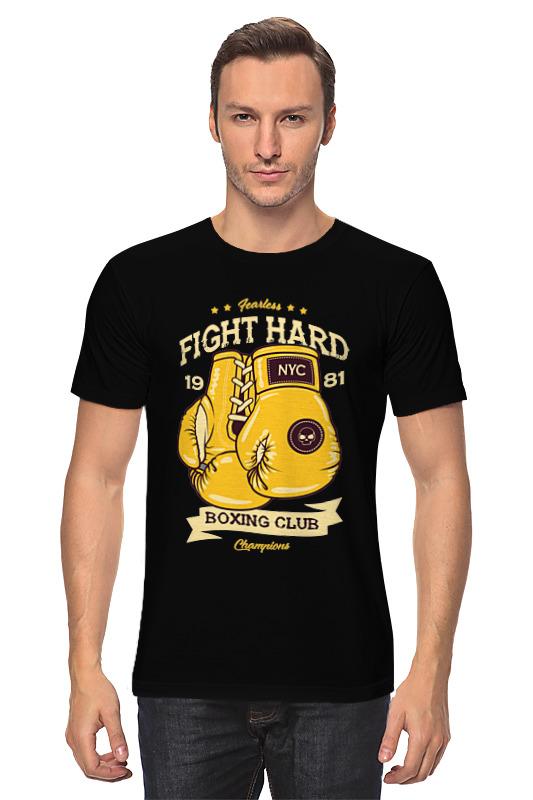 Футболка классическая Printio Fight hard boxing club сиденье для унитаза с микролифтом am pm calla bl