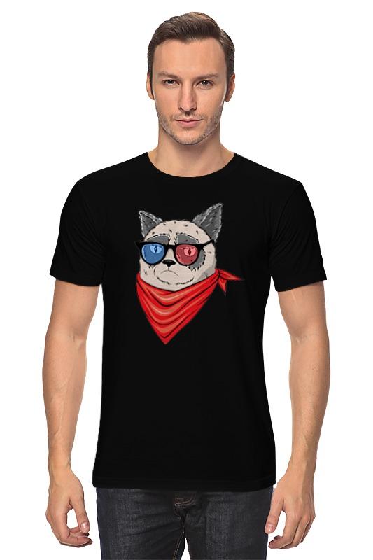 Футболка классическая Printio Сердитый котик в 3d