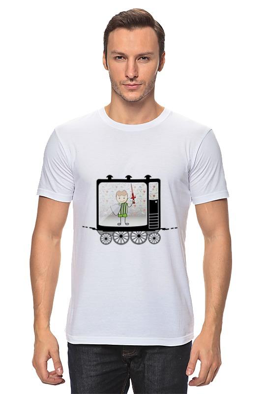 Футболка классическая Printio Мальчик с мечом и щитом лонгслив printio мальчик с мечом и щитом