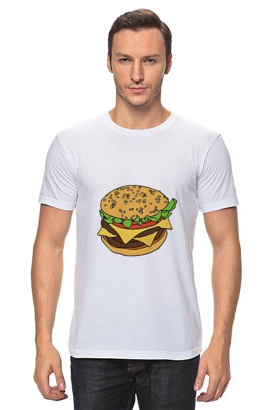 Футболка классическая Printio Гамбургер цена