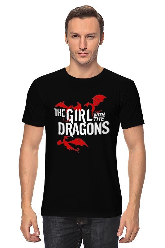 Футболка классическая Printio Девушка с драконами футболка классическая printio девушка с камерой