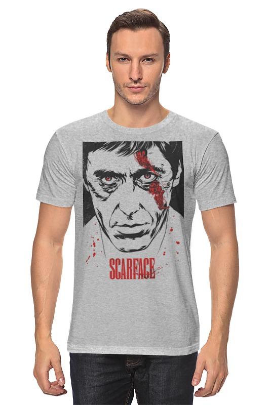 Футболка классическая Printio Scarface футболка wearcraft premium printio тони монтана лицо со шрамом