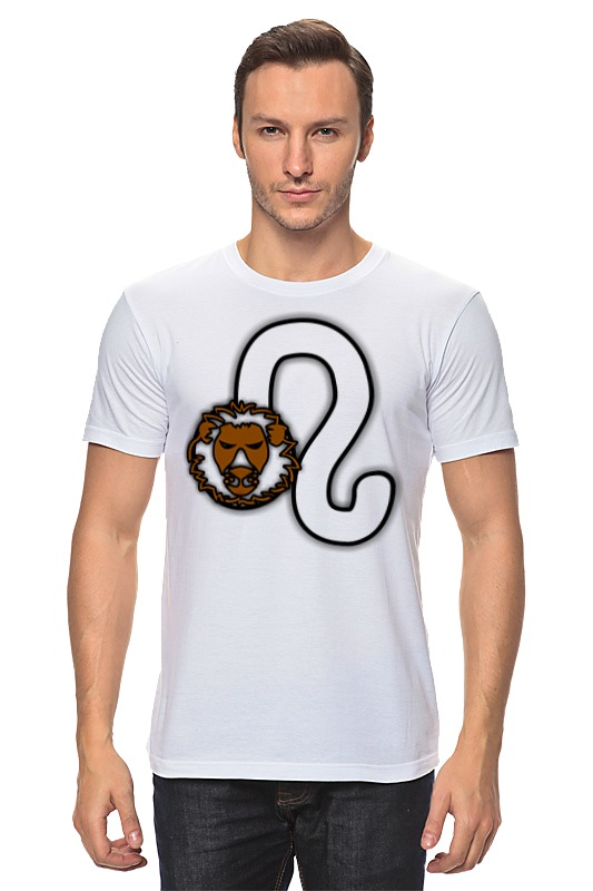 Футболка классическая Printio Знак зодиака лев.