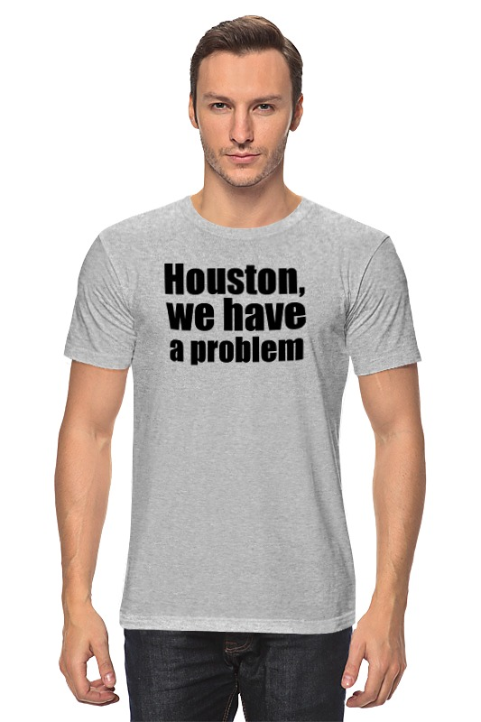 Футболка классическая Printio Houston, we have a problem restricted three body problem