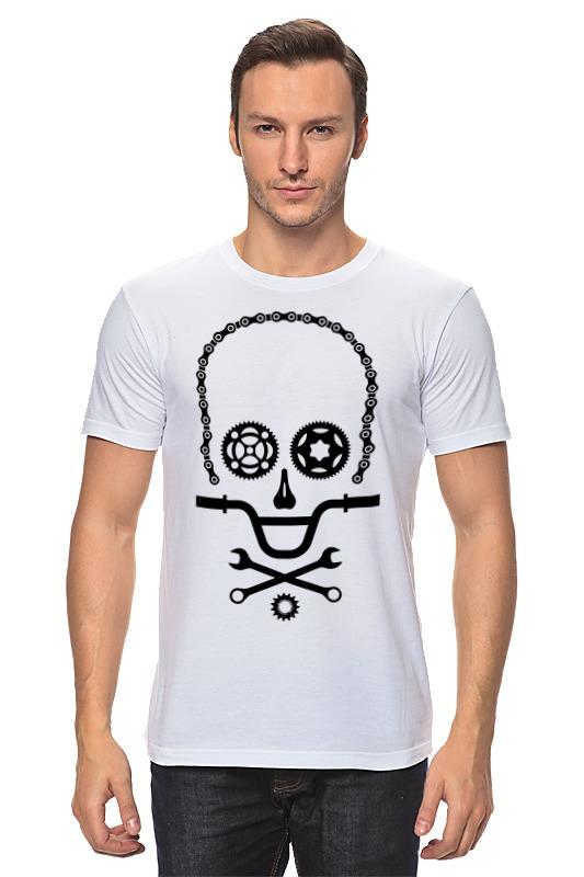 Футболка классическая Printio Вело череп