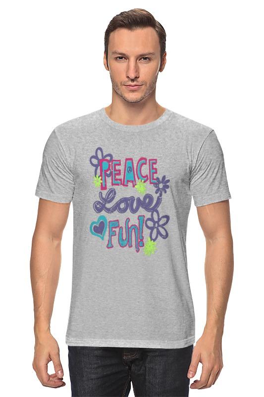 Футболка классическая Printio Peace fun peace