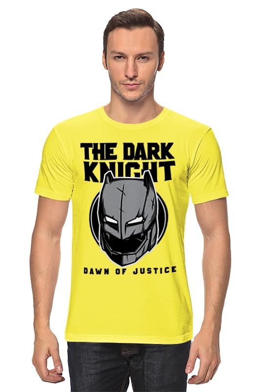 Футболка классическая Printio Темный рыцарь (бэтмен) гурвиц г бэтмен темный рыцарь как то в полночь в час угрюмый графический роман