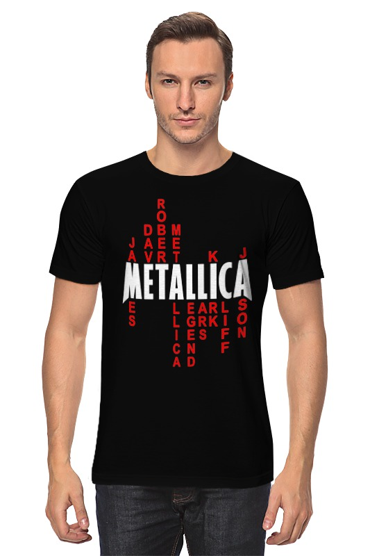 Футболка классическая Printio Metallica history making terrorism history