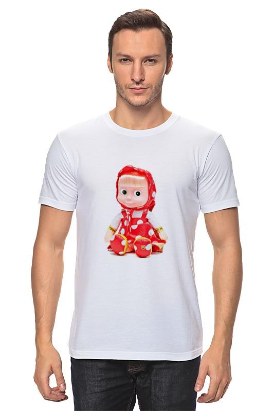 Футболка классическая Printio Кукла-девочка маша из мульта. смешная озорная. футболка wearcraft premium printio кукла девочка маша из мульта смешная озорная