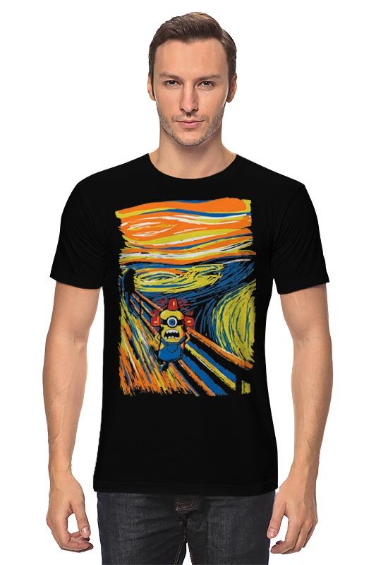 Футболка классическая Printio Крик миньона (эдвард мунк) серая футболка для мальчика миньона 38