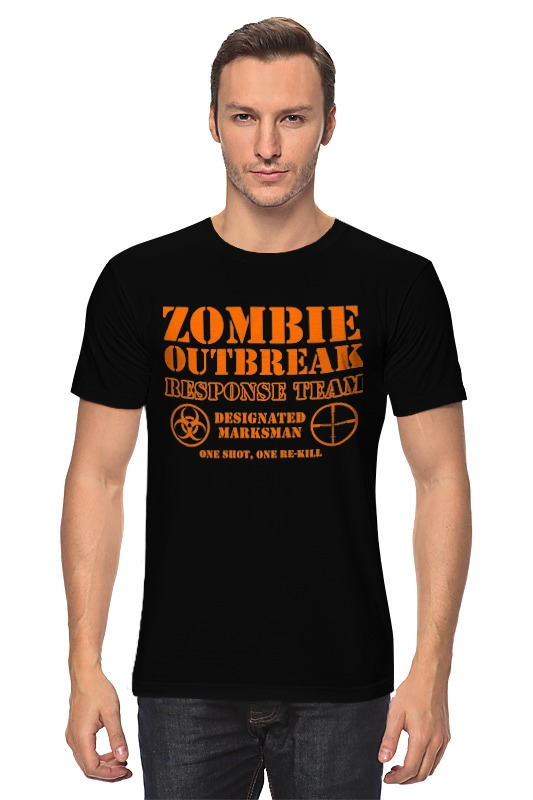 Футболка классическая Printio Зомби апокалипсис. отряд быстрого реагирования майка классическая printio зомби апокалипсис