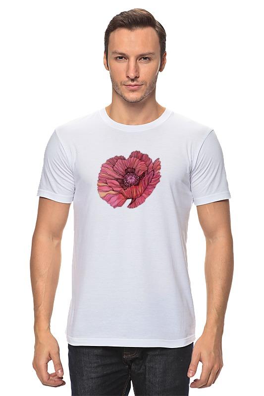 Футболка классическая Printio Стилизованный винтажный арт-цветок винтажный декупаж ретромобиль
