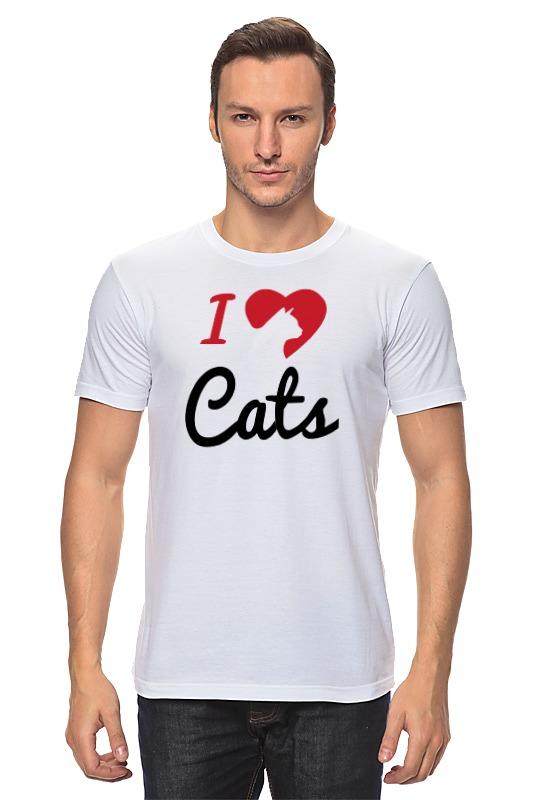 Футболка классическая Printio  люблю котов