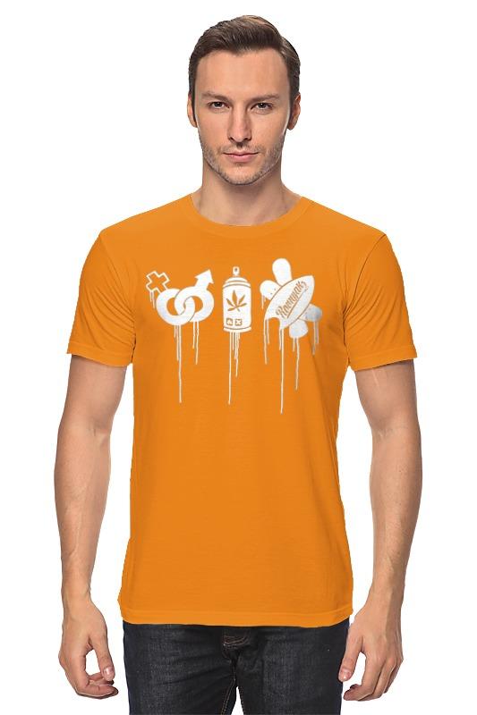 Футболка классическая Printio Оранжевая sex drugs доски ровняк футболка оранжевая