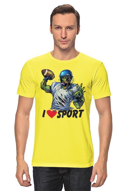 Футболка классическая Printio Зомби спорт - я люблю спорт
