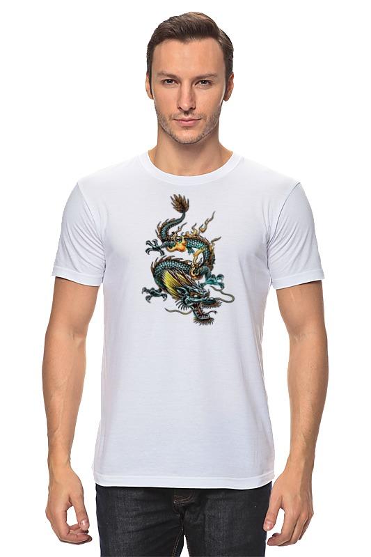 Футболка классическая Printio Китайский дракон силикон китайский в розницу
