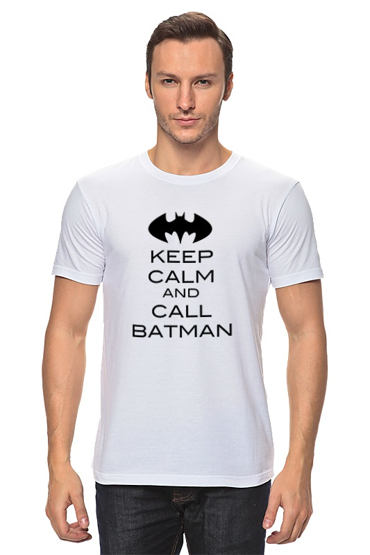 Футболка классическая Printio Keep calm and call batman сумка printio keep calm and call batman