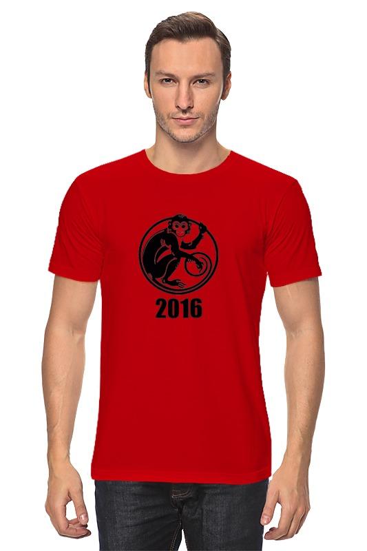 Футболка классическая Printio 2016 год - год красной обезьяны футболка рингер printio обезьяны