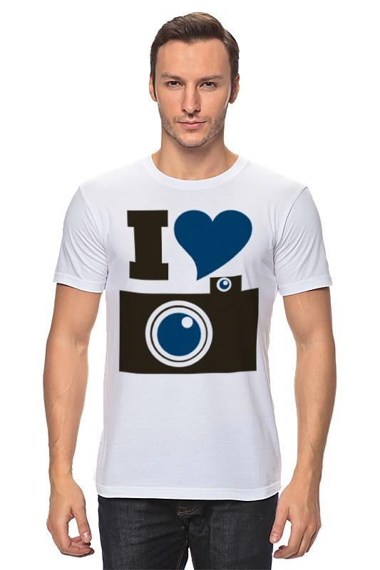 Футболка классическая Printio Я люблю фото (селфи) футболка фото