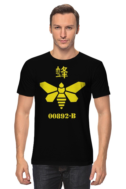 Футболка классическая Printio Methylamine bee (breaking bad) толстовка wearcraft premium унисекс printio methylamine bee breaking bad
