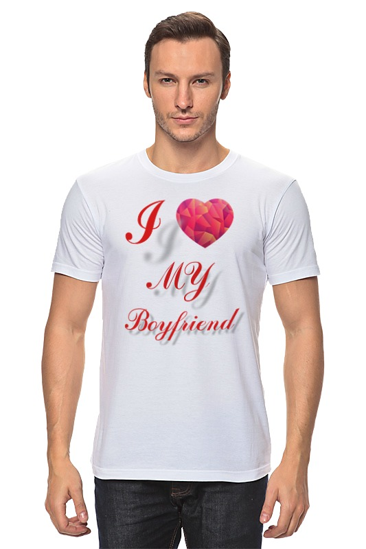 Футболка классическая Printio I love my boyfriend сумка printio i love my boyfriend